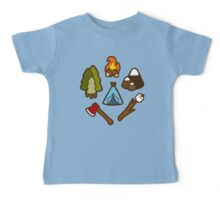 Camping is cool Baby Tee