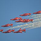 Red Arrows Roll by Andy Jordan