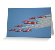 Red Arrows Roll Greeting Card