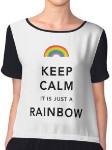 Keep Calm Rainbow on white Chiffon Top