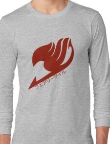 Fairy tail logo (Red) Long Sleeve T-Shirt