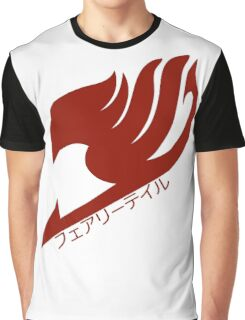 Fairy tail logo (Red) Graphic T-Shirt