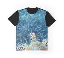 Sea Turtle in the Sea Grass Graphic T-Shirt