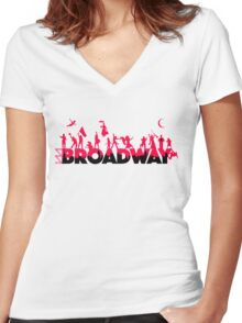 A Celebration of Broadway Women's Fitted V-Neck T-Shirt