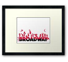 A Celebration of Broadway Framed Print