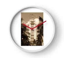 Aloha Tower Sepia Clock