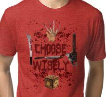HMMMM..... CHOICES Tri-blend T-Shirt