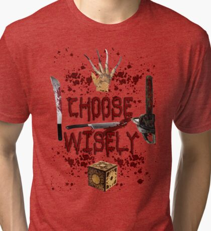 HMMMM..... CHOICES Tri-blend T-Shirt
