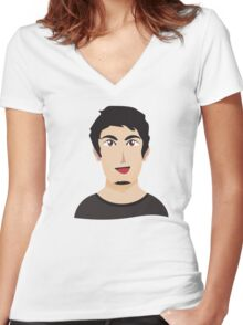 cool boy Women's Fitted V-Neck T-Shirt