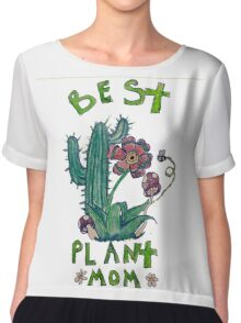 Plant Mom Chiffon Top