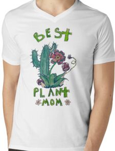Plant Mom Mens V-Neck T-Shirt