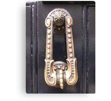 Sherlock's Door Knocker Canvas Print