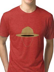 Brown park ranger hat Tri-blend T-Shirt