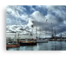 The Fleets In!  Canvas Print