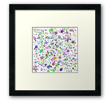 Colorful Round Blots Background Framed Print