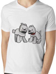 Minecraft Wolf / Minecraft Dogs Mens V-Neck T-Shirt