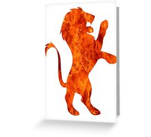 Lion fire (Gryffindor) Greeting Card