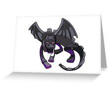 Minecraft Ender Dragon Greeting Card