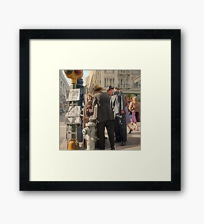 Morning after Pearl Harbor, San Francisco. Framed Print