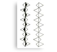 New luxury zig-zag pattern : black and white Metal Print