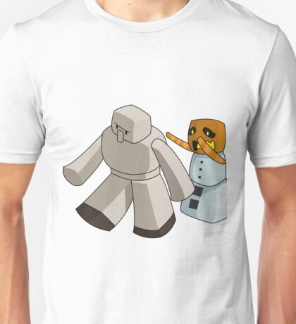 Minecraft Mob - Iron Golem and Snow Golem Unisex T-Shirt