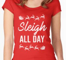 Sleigh All Day Women's Fitted Scoop T-Shirt