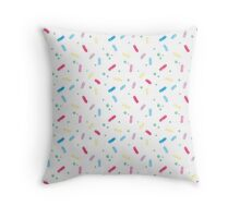 Colorful Sprinkles Pattern Throw Pillow