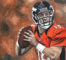 """""""Peyton Manning"""" Broncos  by Kaycasso"""