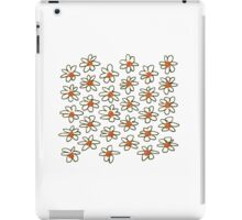 New in shop : Stylish hand-drawn flowers. Black, cooper, white iPad Case/Skin