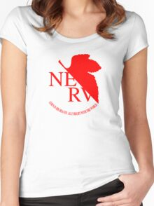 NERV ver.white Women's Fitted Scoop T-Shirt