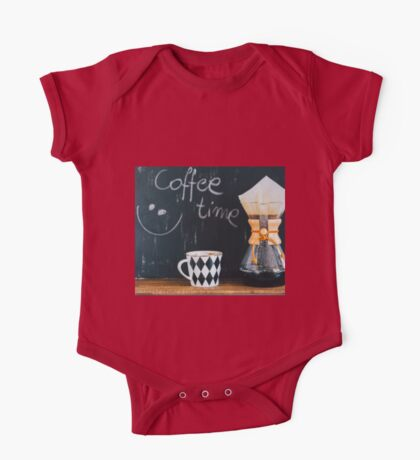 Coffee Time One Piece - Short Sleeve