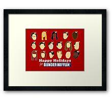Happy Holidays from Dunder Mifflin Framed Print