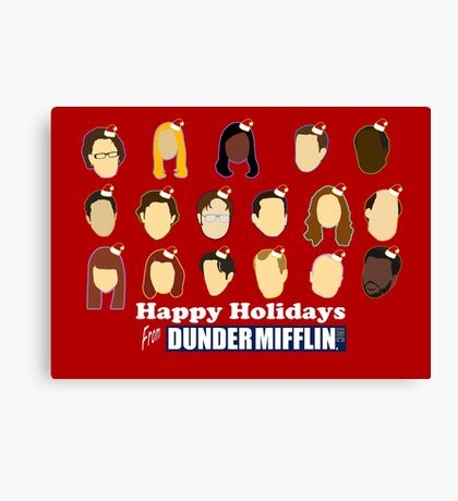 Happy Holidays from Dunder Mifflin Canvas Print