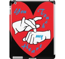 ASL You Touch my Heart! iPad Case/Skin