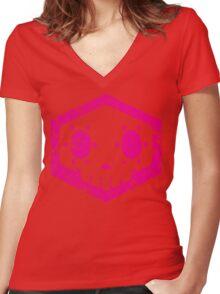 Sombra Skull Women's Fitted V-Neck T-Shirt