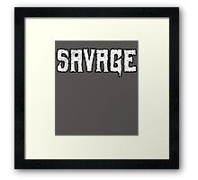 Savage Framed Print