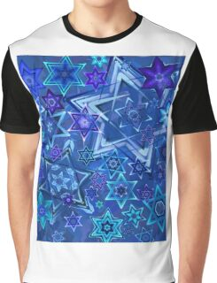 Star of David Hanukkah Night Sky 2 Graphic T-Shirt