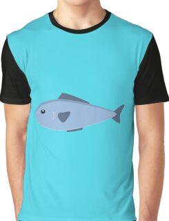 Cute blue sea fish Graphic T-Shirt
