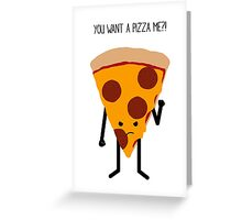 Angry Pizza. Greeting Card