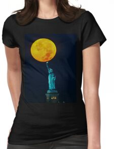 Supermoon 2016 2 Womens Fitted T-Shirt