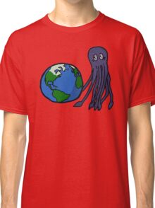 Octopus and Earth Classic T-Shirt