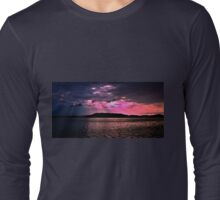 Pink Crepuscular Rays Ocean Sunrise with Water Reflections. Long Sleeve T-Shirt