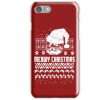 Funny Meow - Christmas Ugly iPhone Case/Skin