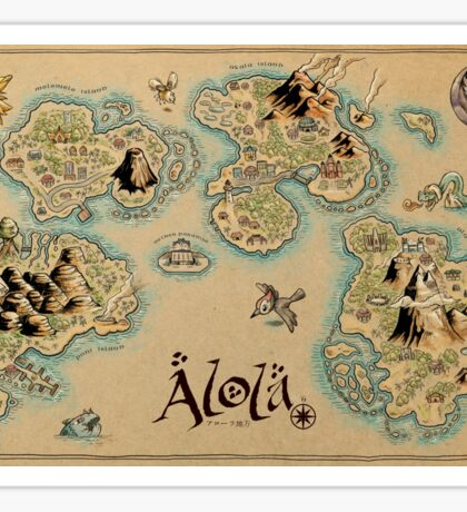 Alola Map Sticker