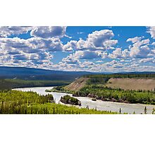 Five Finger Rapids landscape Yukon River Canada Photographic Print