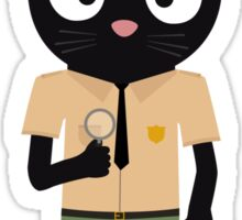 Park Ranger Cat with uniform Sticker