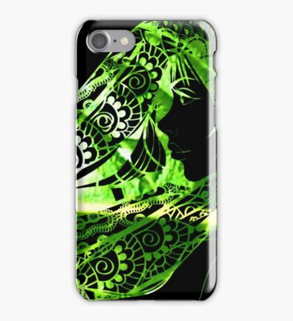 Green to Black iPhone Case/Skin