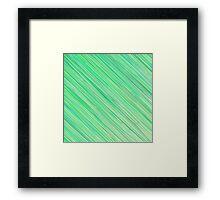 Green Grunge Line Pattern on White Background Framed Print