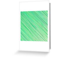 Green Grunge Line Pattern on White Background Greeting Card