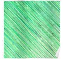Green Grunge Line Pattern on White Background Poster